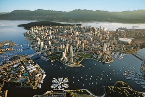 Vancouver downtown arial 300