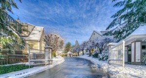 winter snow townhomes